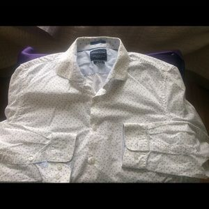 Denim and Flower Lange sleeve white shirt